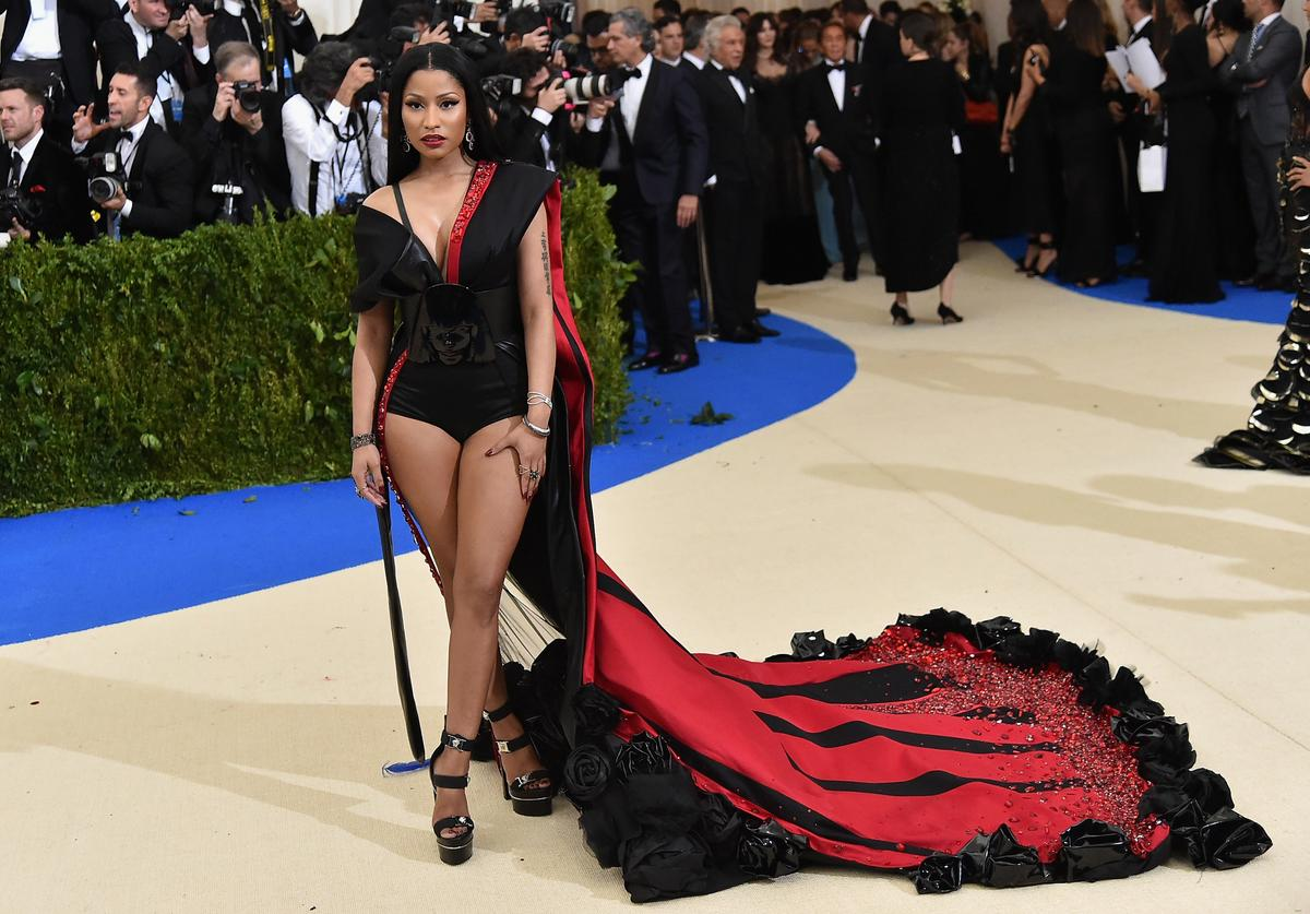 "Nicki Minaj attends the ""Rei Kawakubo/Comme des Garcons: Art Of The In-Between"" Costume Institute Gala at Metropolitan Museum of Art on May 1, 2017 in New York City"