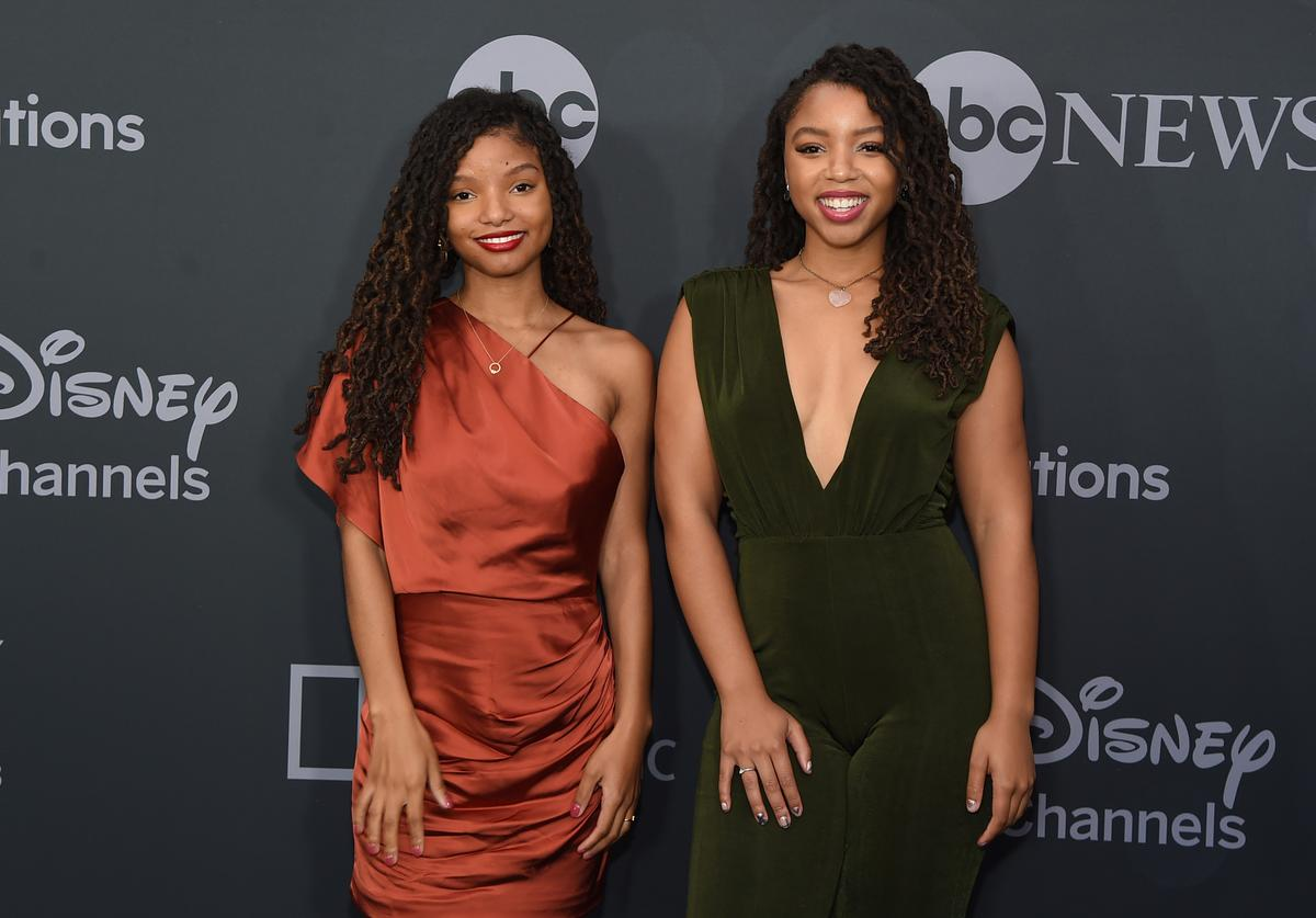 Halle Bailey and Chloe Bailey attend the ABC Walt Disney Television Upfront on May 14, 2019