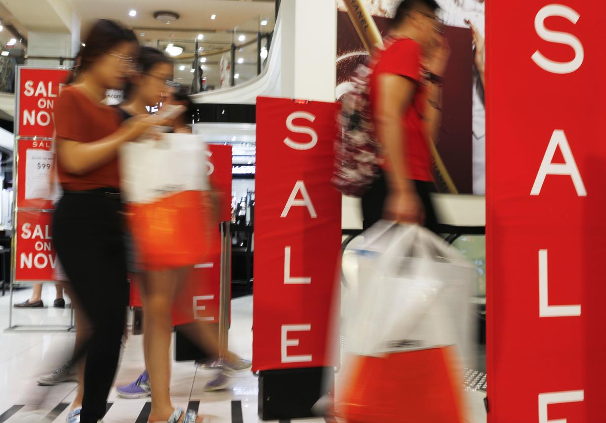 Shoppers in Myer City Store during the Boxing Day sales on December 26, 2018 in Sydney, Australia. Boxing Day is one of the busiest days for retail outlets in Sydney with thousands taking advantage of the post-Christmas sale prices.