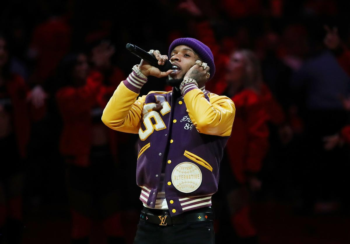 Torey Lanez performs during Game Five of the 2019 NBA Finals between the Golden State Warriors and the Toronto Raptors at Scotiabank Arena on June 10, 2019 in Toronto, Canada