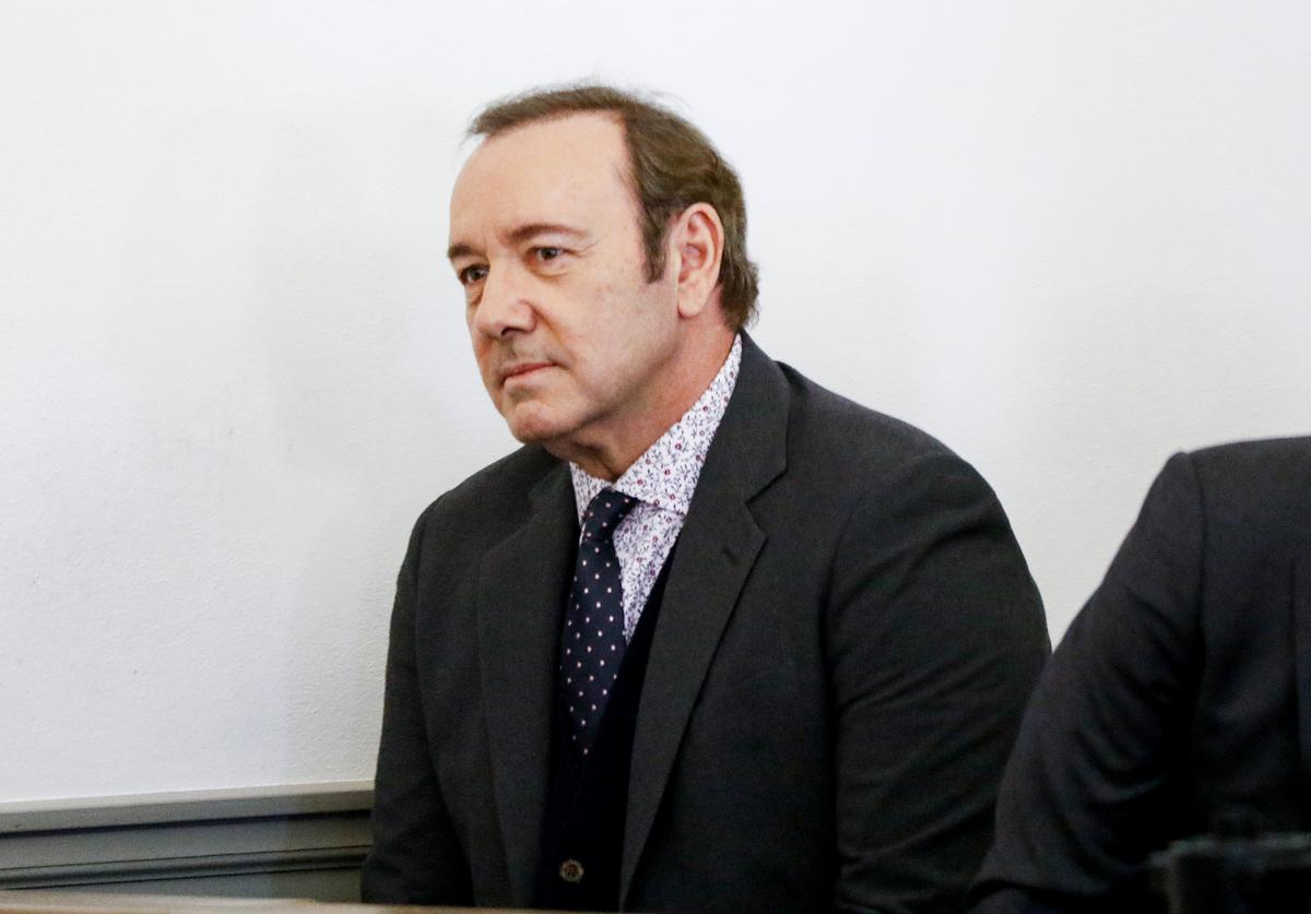 Actor Kevin Spacey attends his arraignment for sexual assault charges at Nantucket District Court on January 7, 2019 in Nantucket, Massachusetts.