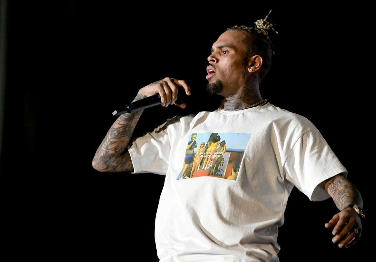 Chris Brown performs onstage at SOMETHING IN THE WATER - Day 3 on April 28, 2019 in Virginia Beach City