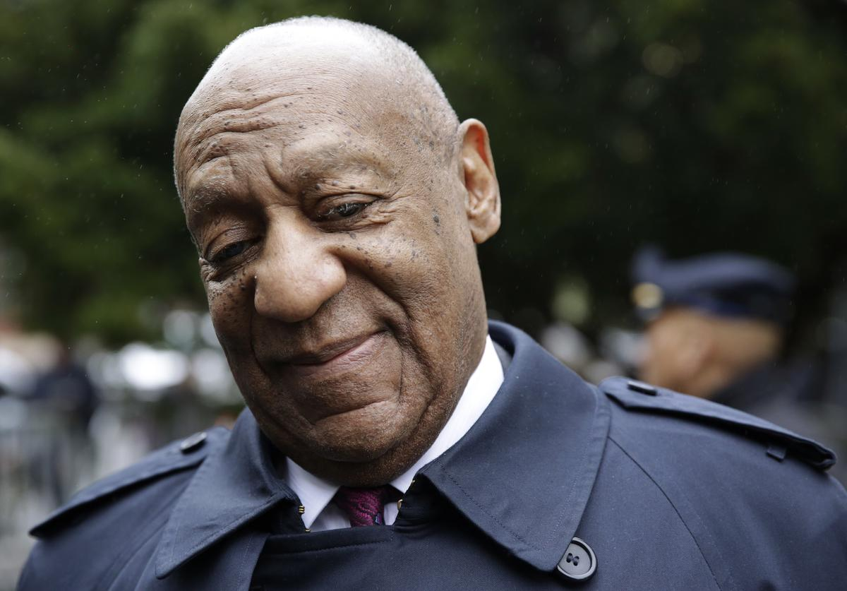 ctor and comedian Bill Cosby arrives for the start of jury deliberations in the retrial of his sexual assault case at the Montgomery County Courthouse in Norristown, Pennsylvania on April 25, 2018.