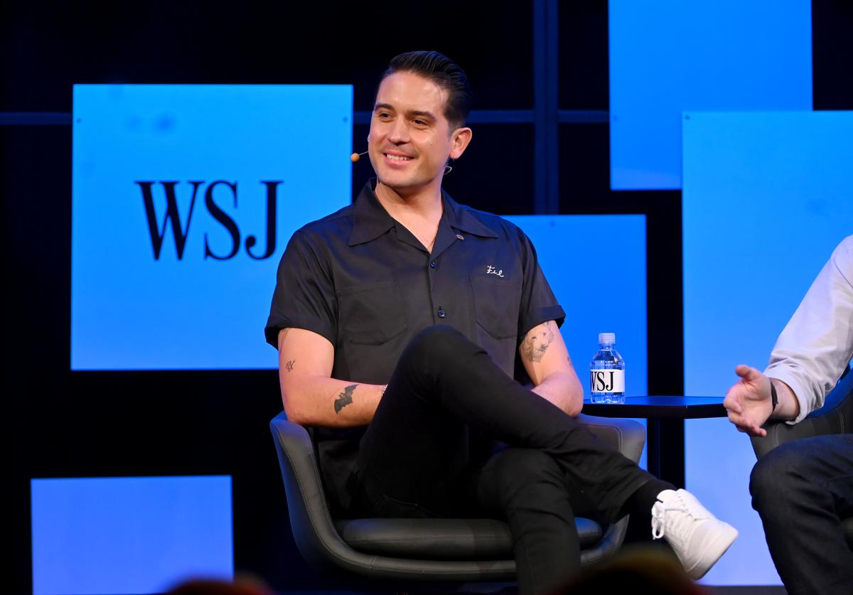 """G-Eazy speaks onstage at The Wall Street Journal's """"The Future of Everything Festival"""" at Spring Studios on May 22, 2019 in New York City."""