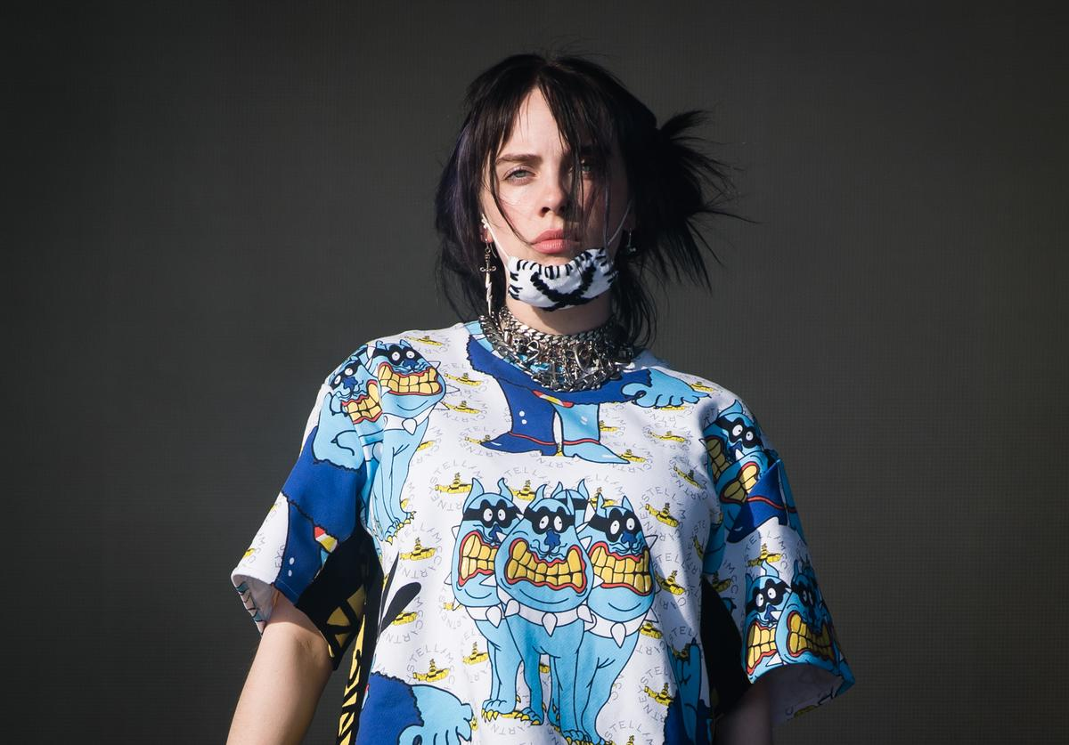 Billie Eilish performs on the Other Stage during day five of Glastonbury Festival at Worthy Farm, Pilton on June 30, 2019 in Glastonbury, England