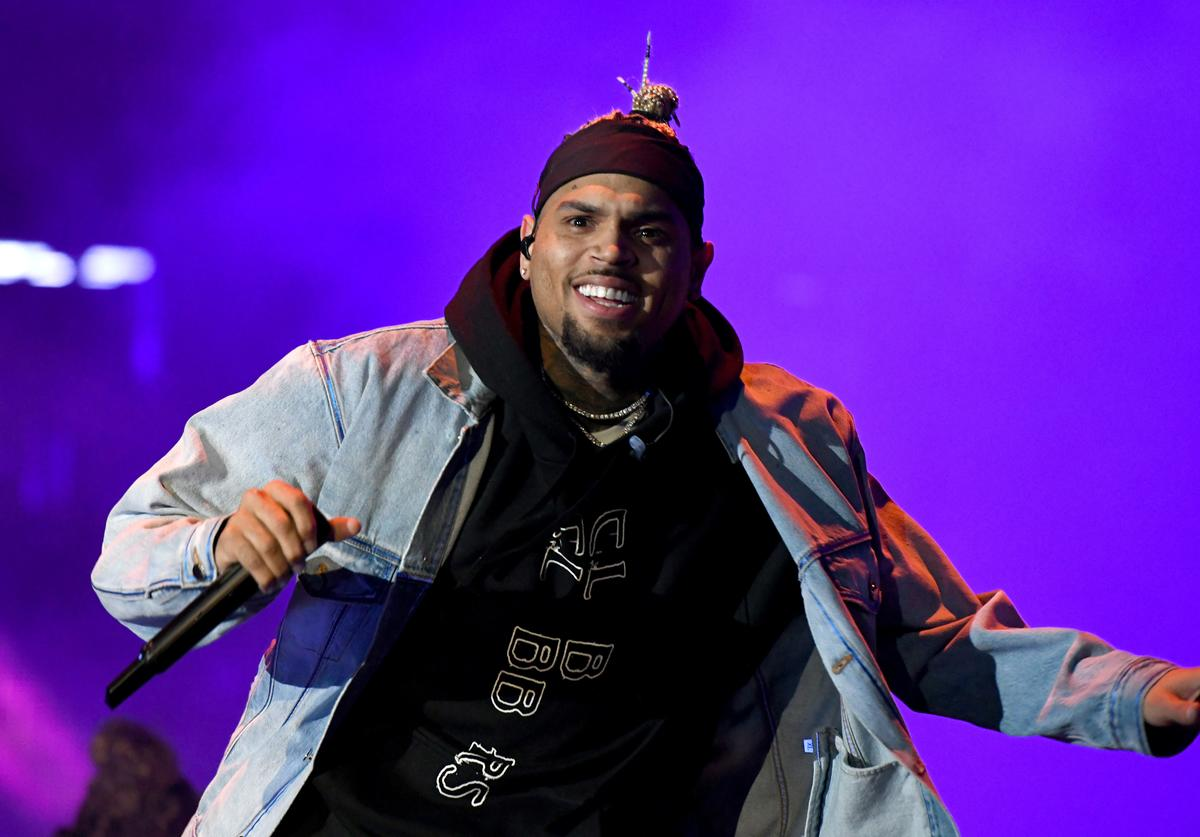 Chris Brown performs onstage at SOMETHING IN THE WATER - Day 3 on April 28, 2019 in Virginia Beach City.