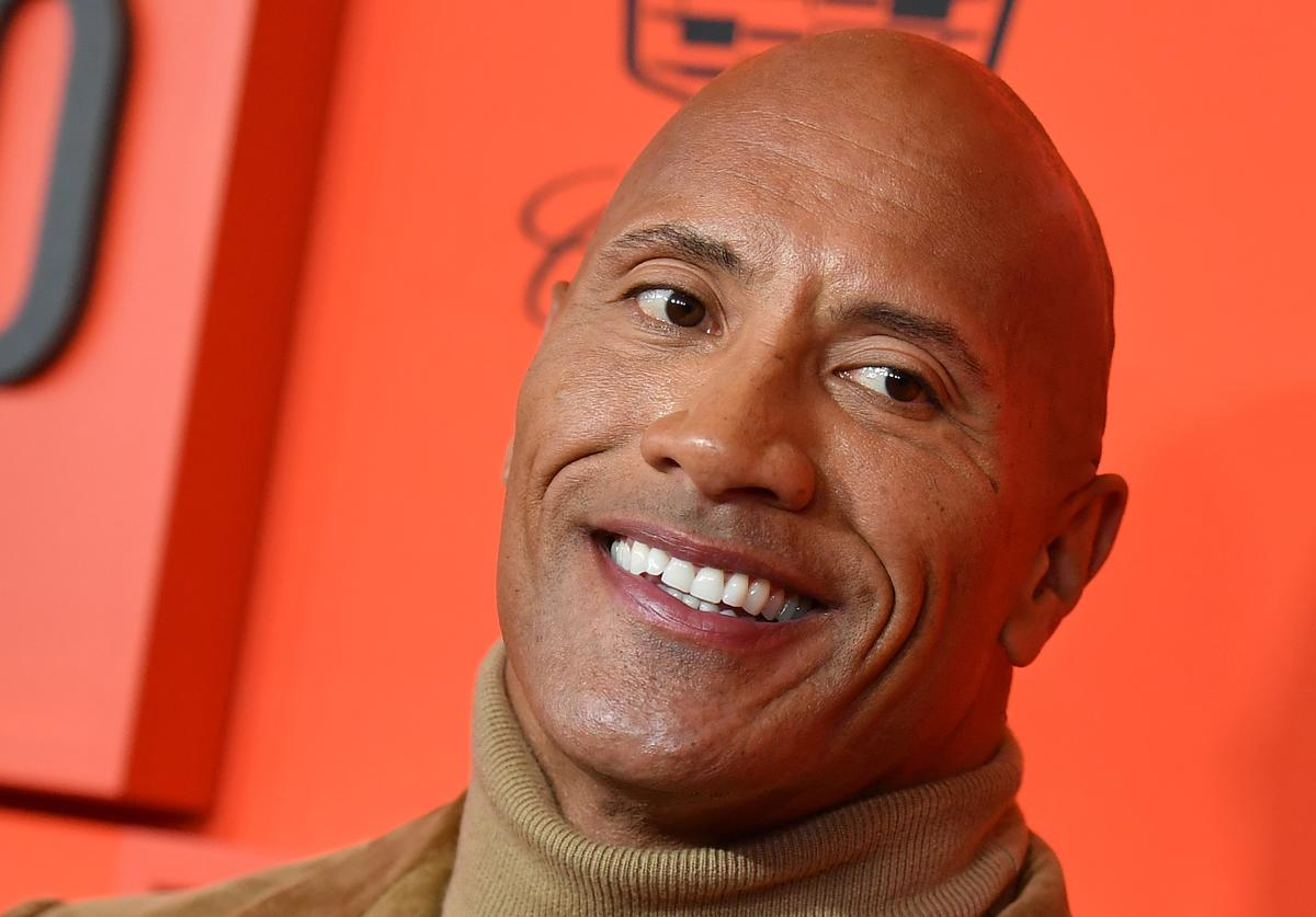 US actor Dwayne Johnson arrives on the red carpet for the Time 100 Gala at the Lincoln Center in New York on April 23, 2019.