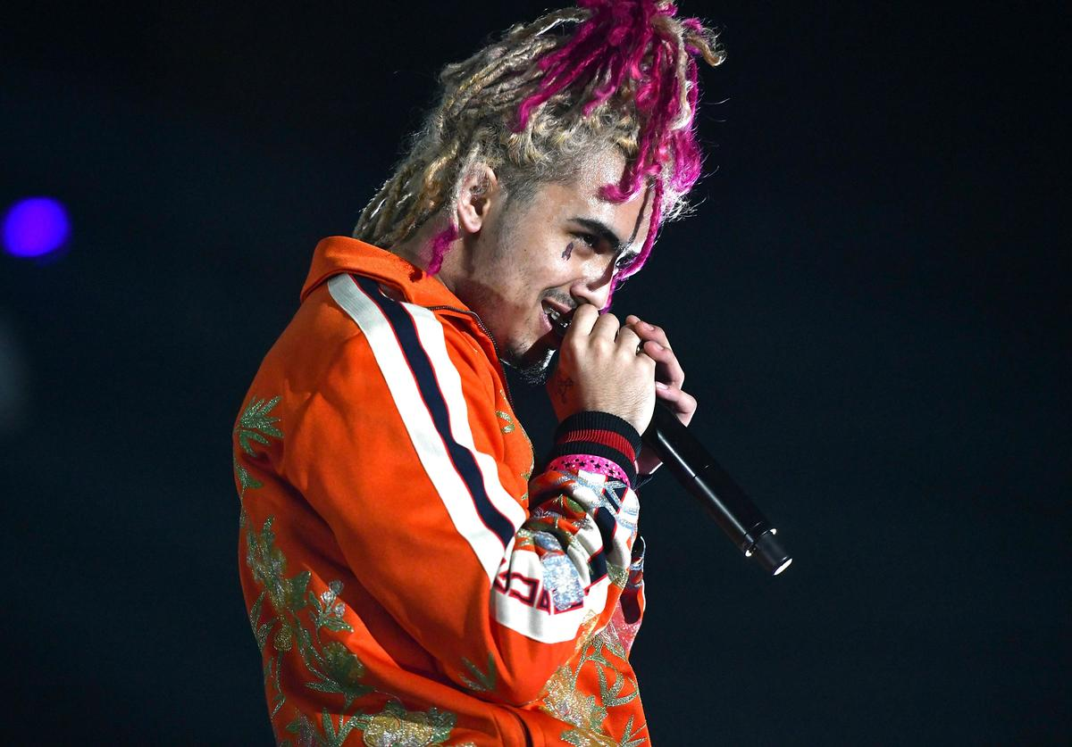 Rapper Lil Pump performs onstage during YG and Friend's Nighttime Boogie Concert at The Shrine Auditorium on February 17, 2018 in Los Angeles, California.