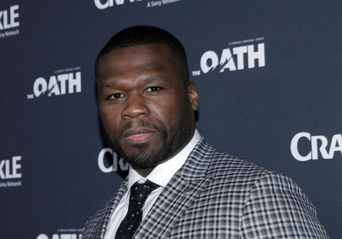 50 Cent attends the premiere of Crackle's 'The Oath' at Sony Pictures Studios on March 7, 2018 in Culver City, California.