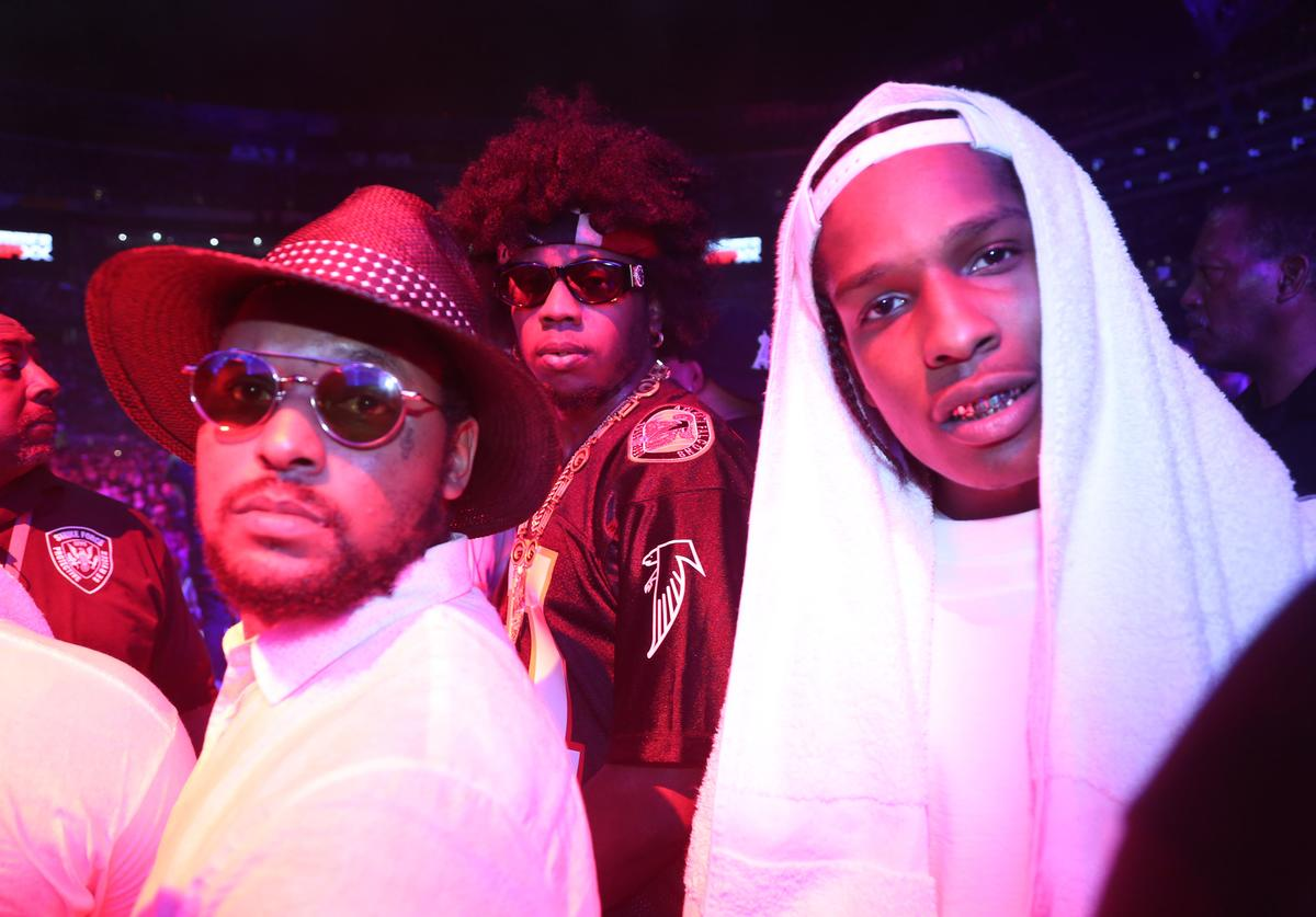 Schoolboy Q, Trinidad James and A$AP Rocky attend HOT 97 Summer Jam XX at MetLife Stadium on June 2, 2013 in East Rutherford, New Jersey.