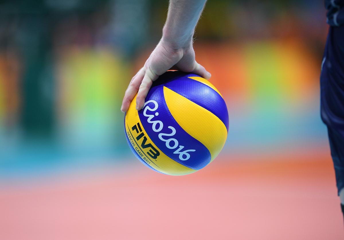Italy's Ivan Zaytsev holds the ball during the men's Gold Medal volleyball match between Italy and Brazil at the Maracanazinho stadium in Rio de Janeiro on August 21, 2016