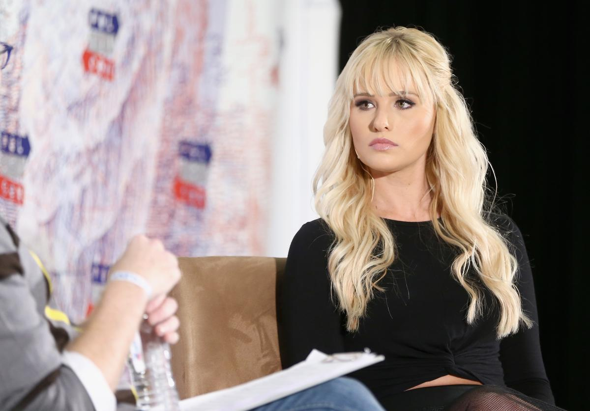 Tomi Lahren speaks onstage during Politicon 2018 at Los Angeles Convention Center on October 21, 2018 in Los Angeles, California