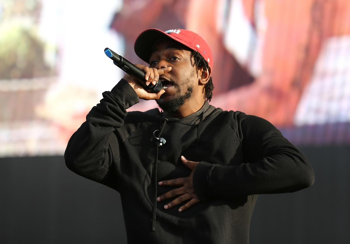 Kendrick Lamar performs on day 2 of the New Look Wireless Festival at Finsbury Park on July 4, 2015 in London, England