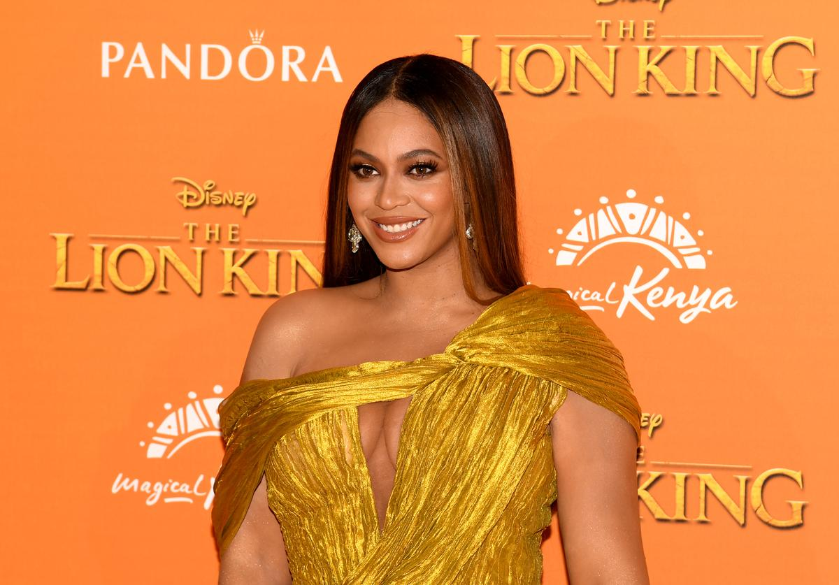 """Beyonce Knowles-Carter attends the European Premiere of Disney's """"The Lion King"""" at Odeon Luxe Leicester Square on July 14, 2019 in London, England"""