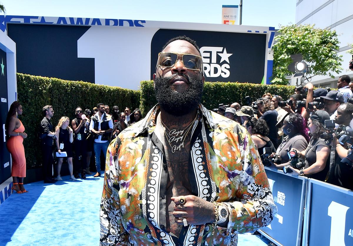Rick Ross attends the 2019 BET Awards at Microsoft Theater on June 23, 2019 in Los Angeles, California