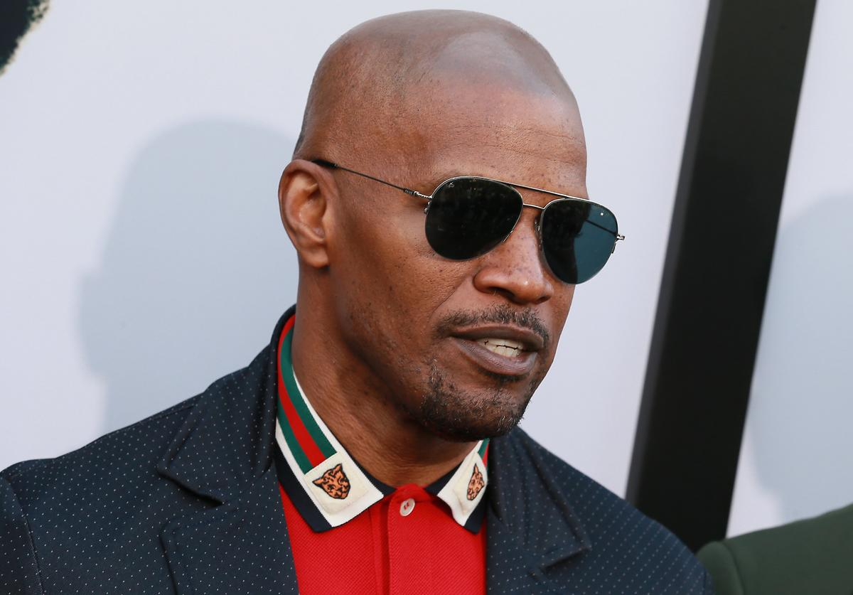 "Jamie Foxx attends Premiere Of Netflix's ""The Black Godfather"" at Paramount Theater on the Paramount Studios lot on June 03, 2019 in Hollywood, California"