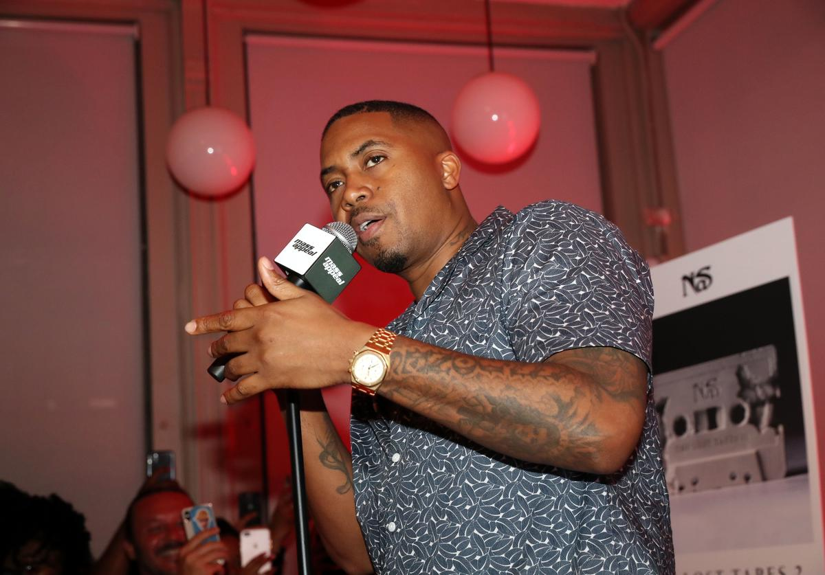 """Nas performs during Nas' """"The Lost Tapes 2"""" Private Listening Session at Mass Appeal on July 16, 2019 in New York City."""