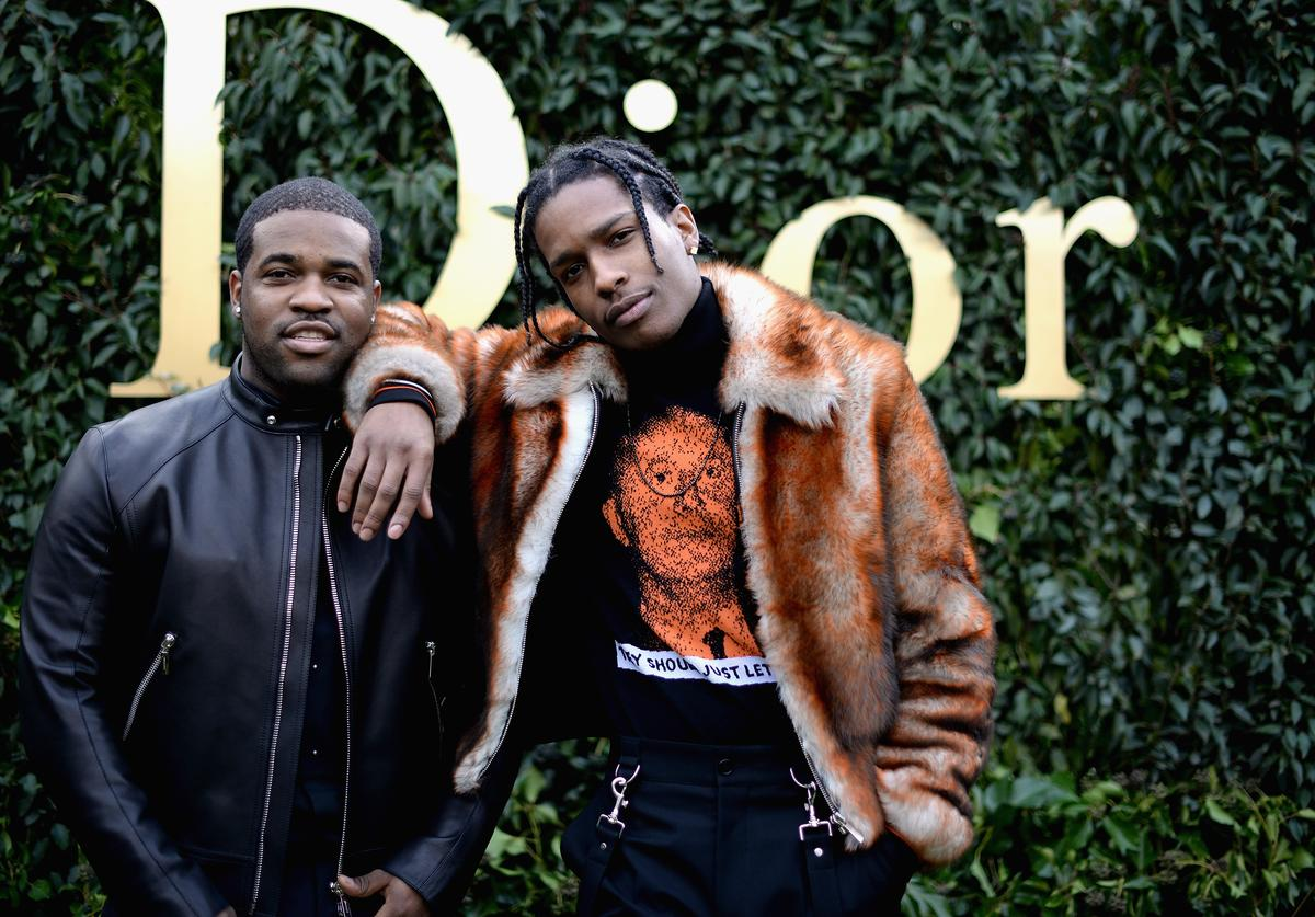 ASAP Ferg and ASAP Rocky attend the Christian Dior Haute Couture Spring Summer 2017 show as part of Paris Fashion Week at Musee Rodin on January 23, 2017 in Paris, France