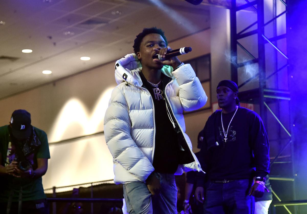 Roddy Ricch performs onstage at the 2019 BET Experience DJ Hed Presents Kicksperience Sponsored by Sprite at Los Angeles Convention Center on June 21, 2019 in Los Angeles, California