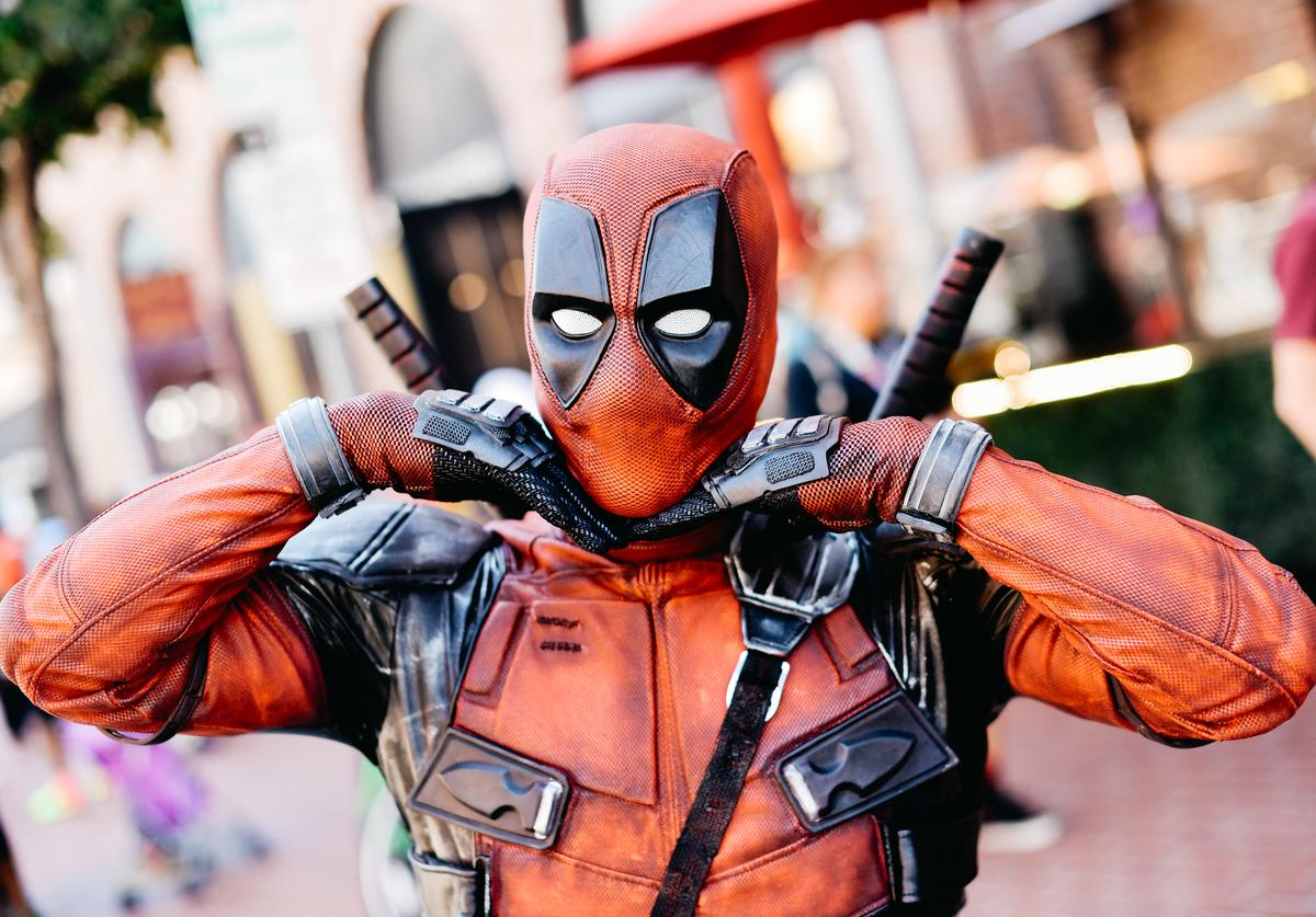 A cosplayer dressed as Deadpool attends the 2019 Comic-Con International on July 18, 2019 in San Diego, California