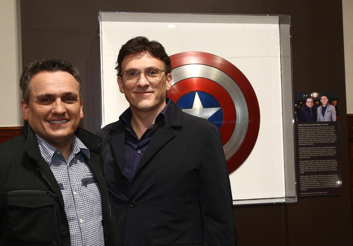 Directors Joe Russo and Anthony Russo attend the Italian American Museum Of Los Angeles Unveils Exhibition Honoring The Russo Brothers at Italian American Museum of Los Angeles on May 31, 2018 in Los Angeles, California.