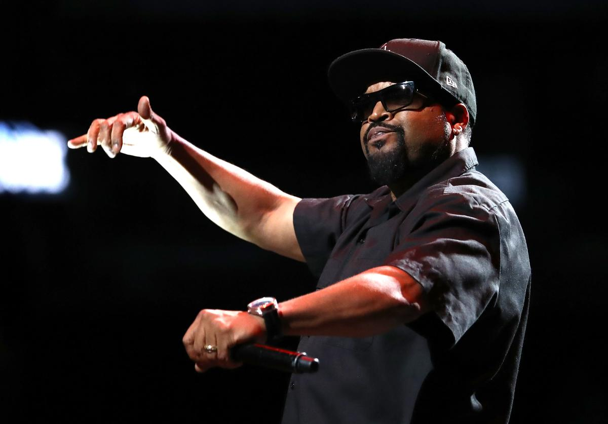 Ice Cube performs during the BIG3 Championship at the Barclays Center on August 24, 2018 in Brooklyn, New York. (