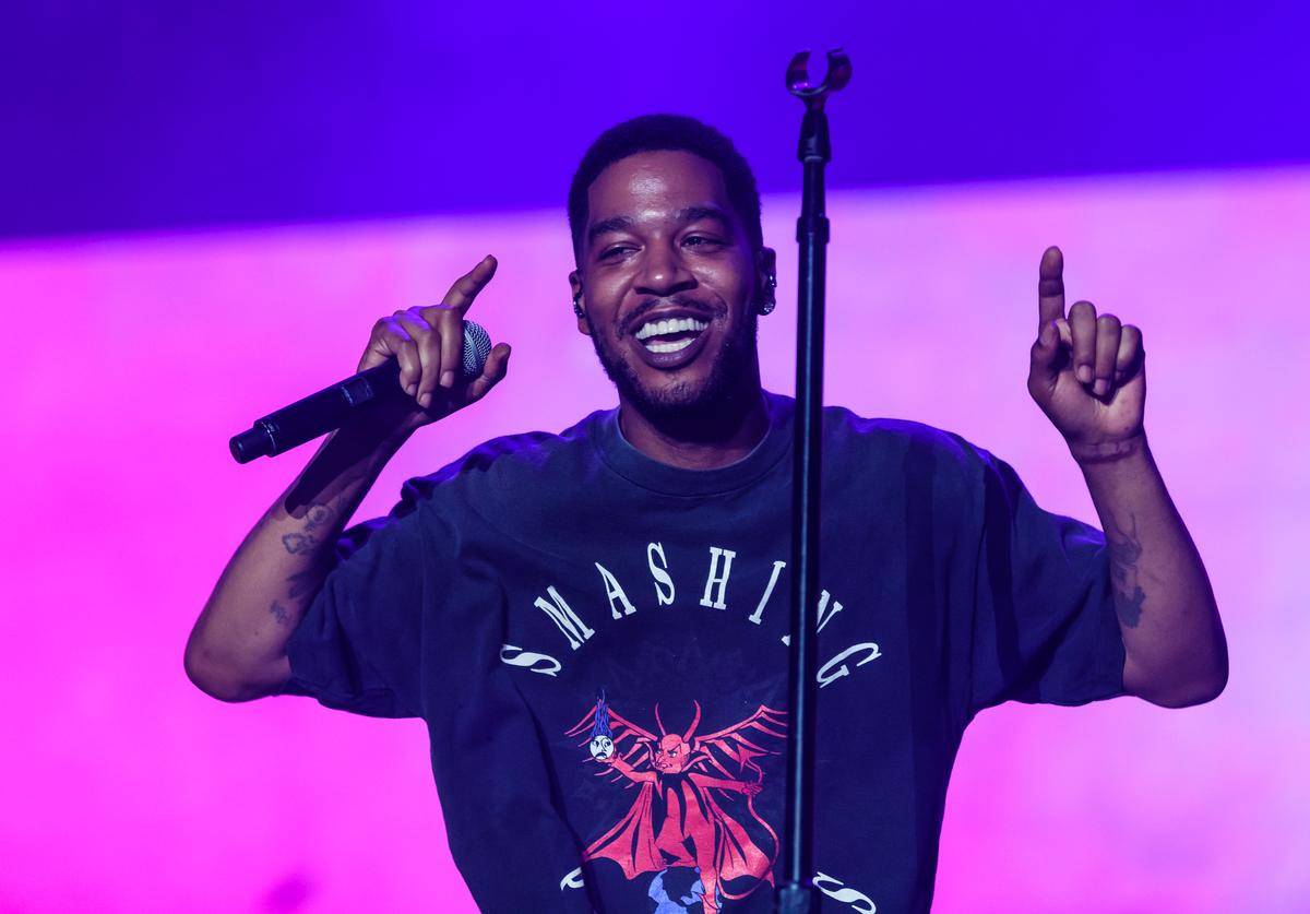 Scott Ramon Seguro Mescudi known by his stage name Kid Cudi performs during day three of Rolling Loud at Hard Rock Stadium on May 12, 2019 in Miami Gardens, FL.