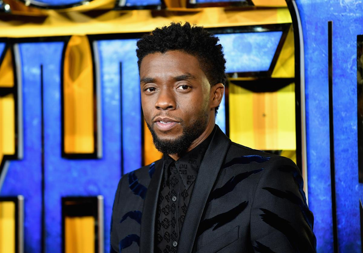 "Chadwick Boseman attends the European Premiere of Marvel Studios' ""Black Panther"" at the Eventim Apollo, Hammersmith on February 8, 2018 in London, England."