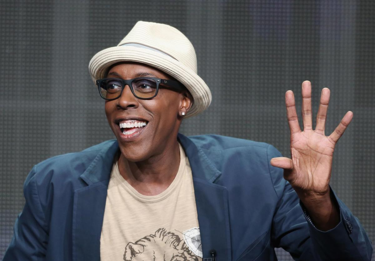 "Host/executive producer Arsenio Hall speaks onstage during ""The Arsenio Hall Show"" panel discussion at the CBS, Showtime and The CW portion of the 2013 Summer Television Critics Association tour at the Beverly Hilton Hotel on July 29, 2013 in Beverly Hills, California."