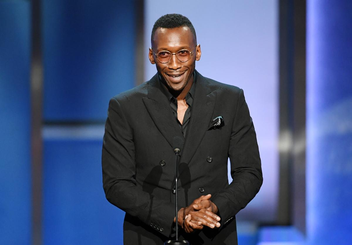 Mahershala Ali speaks onstage during the 47th AFI Life Achievement Award honoring Denzel Washington at Dolby