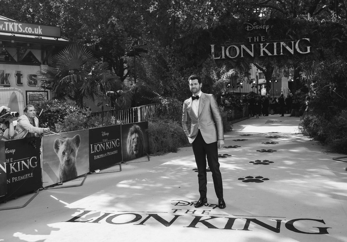 "Billy Eichner attends the European Premiere of Disney's ""The Lion King"" at Odeon Luxe Leicester Square"