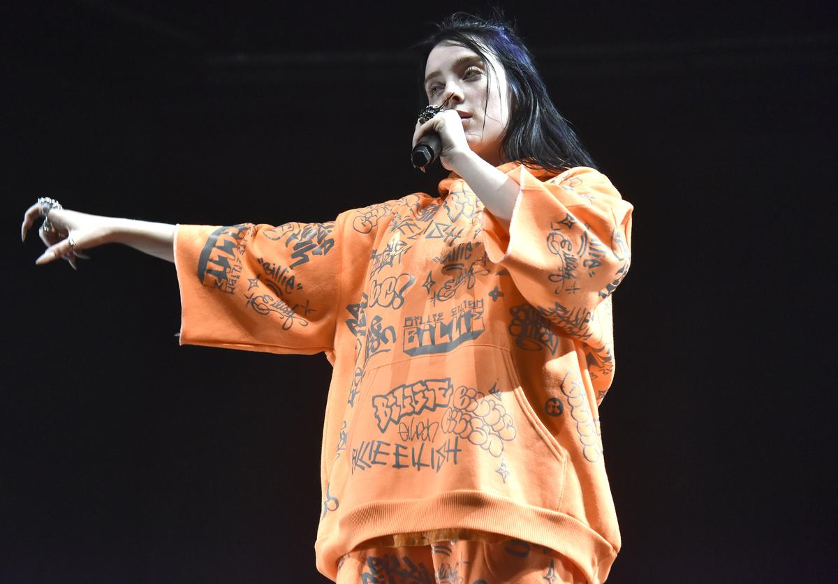 """Billie Eilish performs in support of her """"When We All Fall Asleep, Where Do We Go?"""" release at Bill Graham Civic Auditorium on May 29, 2019 in San Francisco, California"""