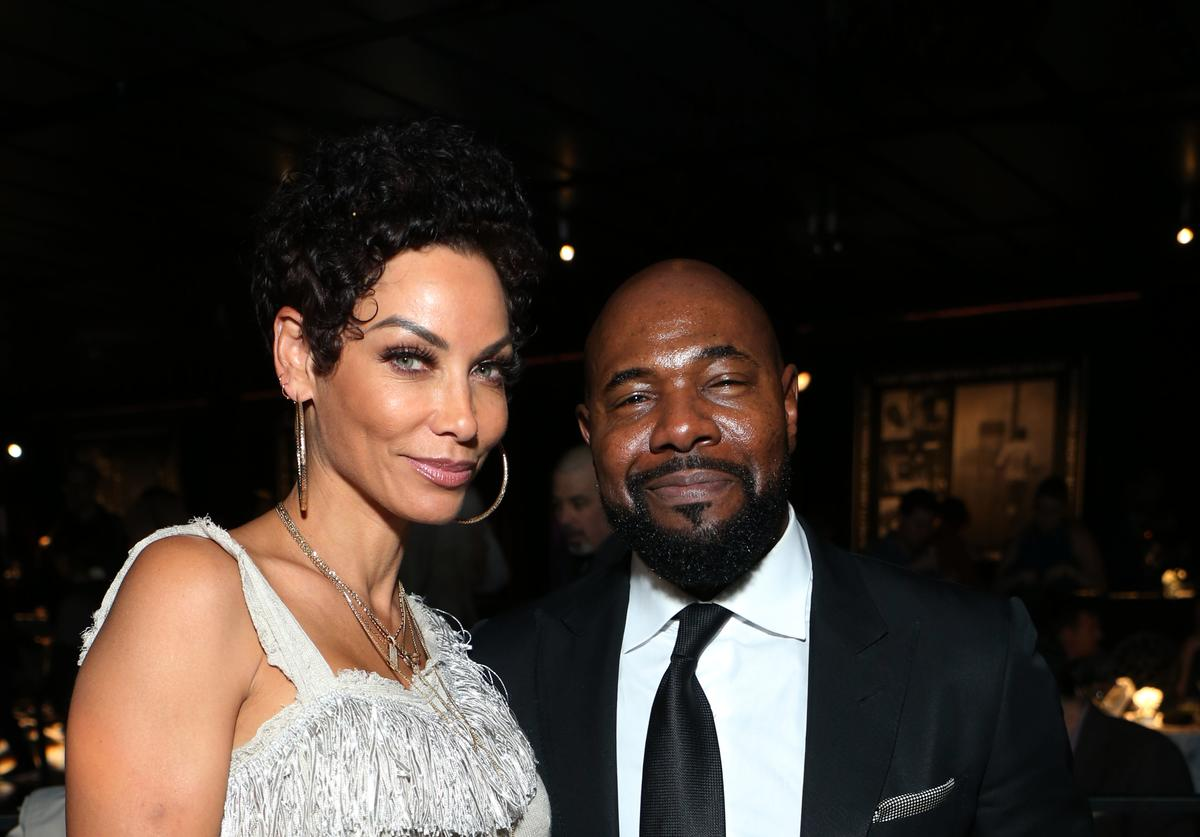 "Antoine Fuqua (R) and Nicole Murphy attends the after party for HBO's ""What's My Name: Muhammad Ali"" at Regal Cinemas L.A. LIVE Stadium 14 on May 08, 2019 in Los Angeles, California"