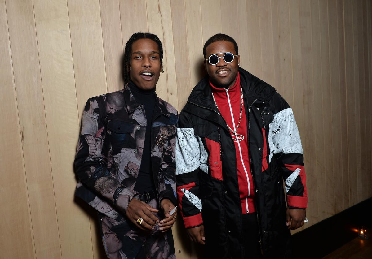 ASAP Rocky and ASAP Ferg attend the Dior Homme Menswear Aftershow Cocktail & Dinner Fall/Winter 2017-2018 show as part of Paris Fashion Week on January 21, 2017 in Paris, France