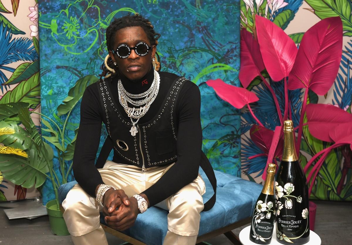 Rapper Young Thug attends L'Eden by Perrier-Jouët on December 6, 2018 in Miami Beach, Florida.