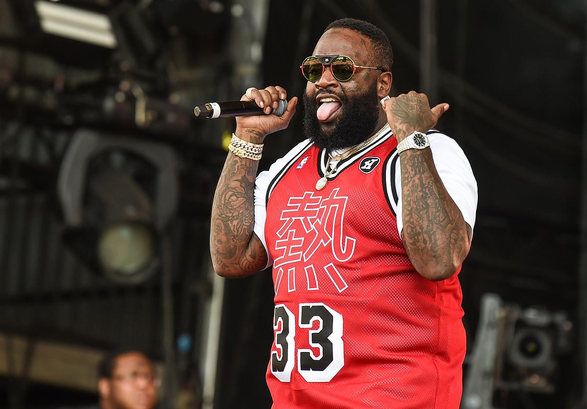 Rick Ross performs on the main stage on Day 3 of Wireless Festival 2018 at Finsbury Park on July 8, 2018 in London, England.