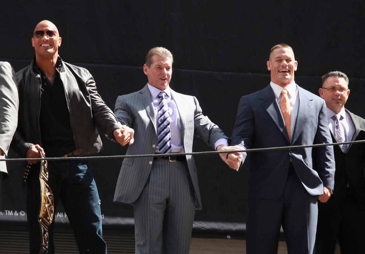 The Rock, Vince McMahon, John Cena