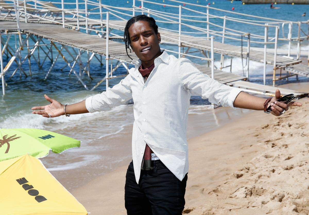 """Rapper ASAP Rocky attends a photocall for """"Dope"""" during the 68th annual Cannes Film Festival on May 22, 2015 in Cannes, France."""