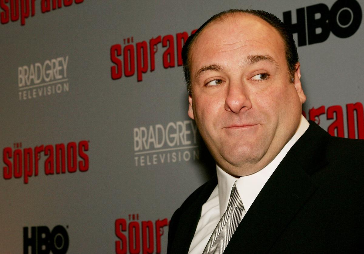 "James Gandolfini of ""The Sopranos"""