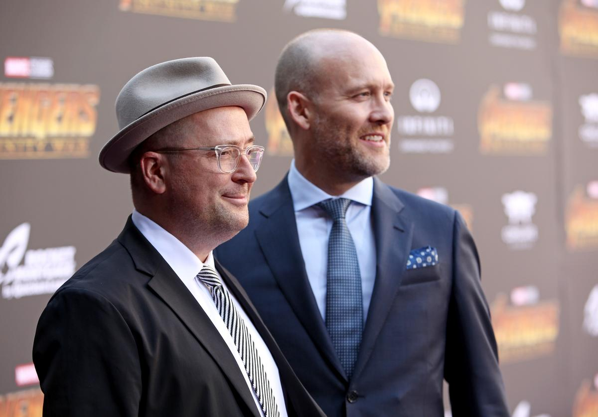 Screenwriters Christopher Markus (L) and Stephen McFeely attend the Los Angeles Global Premiere for Marvel Studios' Avengers: Infinity War on April 23, 2018 in Hollywood, California.