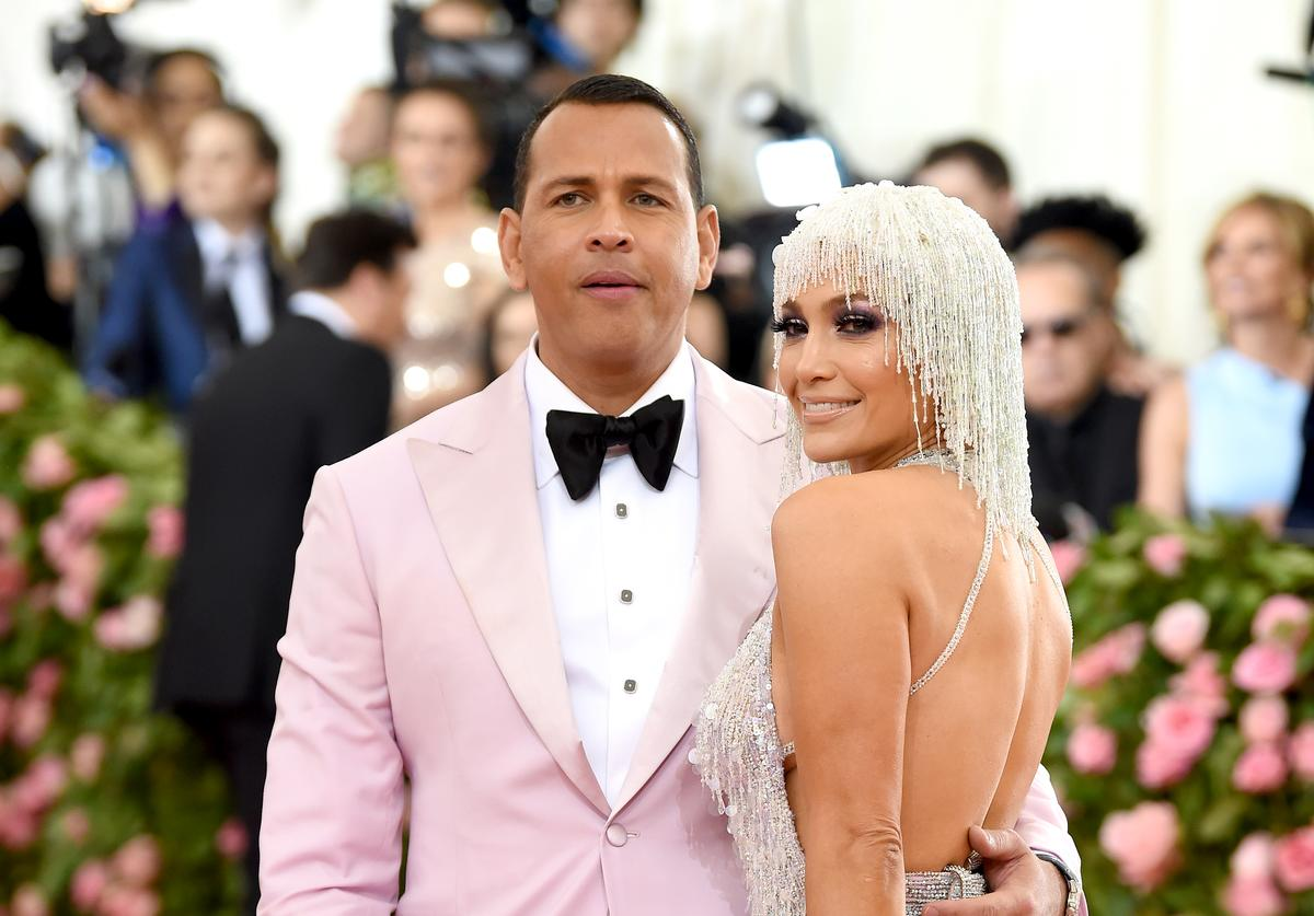 Alex Rodriquez and Jennifer Lopez attend The 2019 Met Gala Celebrating Camp: Notes on Fashion at Metropolitan Museum of Art on May 06, 2019 in New York City