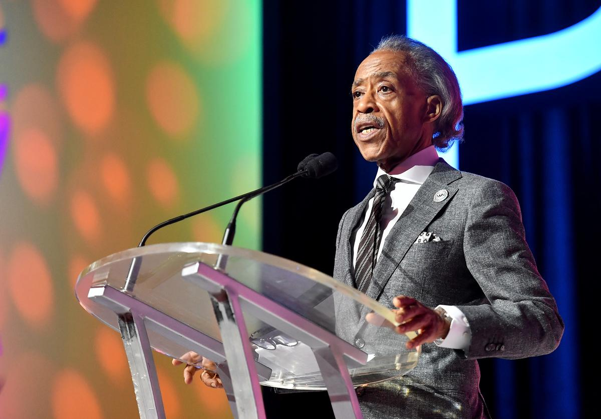 Reverend Al Sharpton speaks on stage at 2019 ESSENCE Festival Presented By Coca-Cola at Ernest N. Morial Convention Center on July 06, 2019 in New Orleans, Louisiana. (
