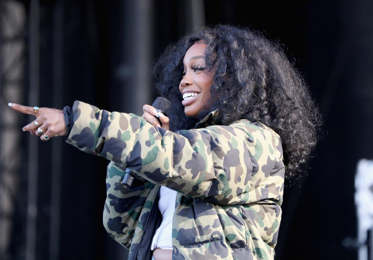 SZA performs onstage at SOMETHING IN THE WATER - Day 2 on April 27, 2019 in Virginia Beach City
