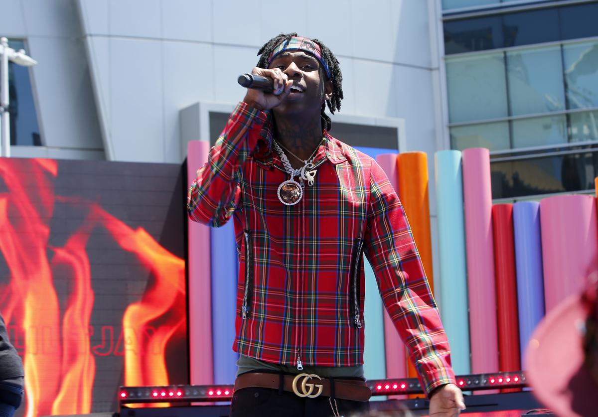 Polo G performs onstage during the Pre Show at the 2019 BET Awards at Microsoft Theater on June 23, 2019 in Los Angeles, California