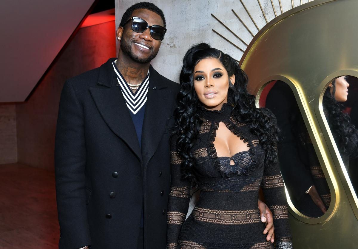 Gucci Mane (L) and Keyshia Ka'Oir attend the Warner Music Group Pre-Grammy Party in association with V Magazine on January 25, 2018 in New York City