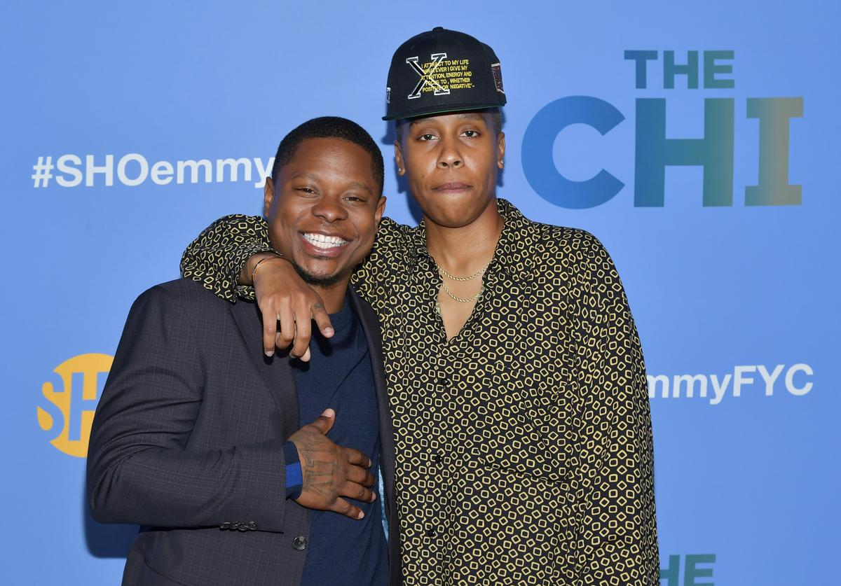 "Creator/Executive producer Lena Waithe and actor Jason Mitchell attend Showtime's ""The Chi"" For Your Consideration at Silver Screen Theater at the Pacific Design Center"