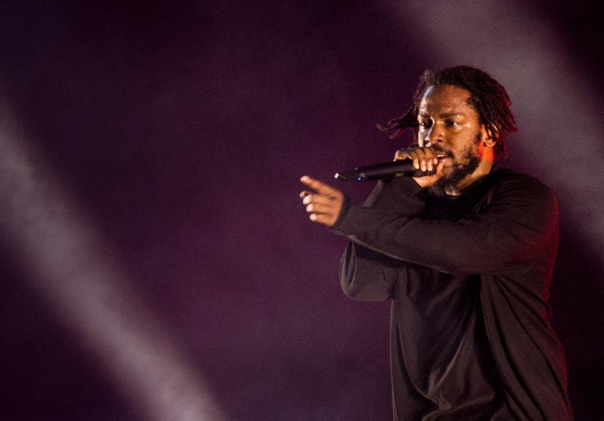 Kendrick Lamar performs during the third day of Lollapalooza Buenos Aires 2019