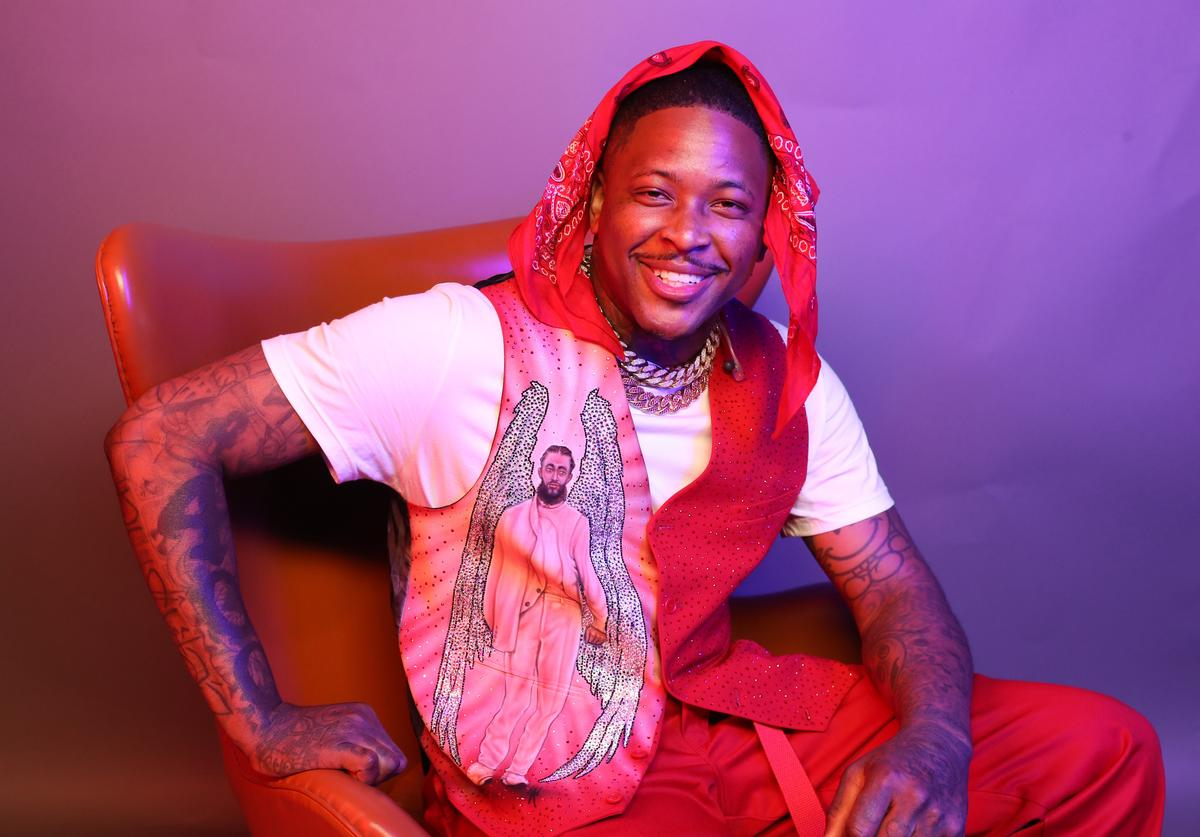 YG poses for a portrait during the BET Awards 2019 at Microsoft Theater on June 23, 2019