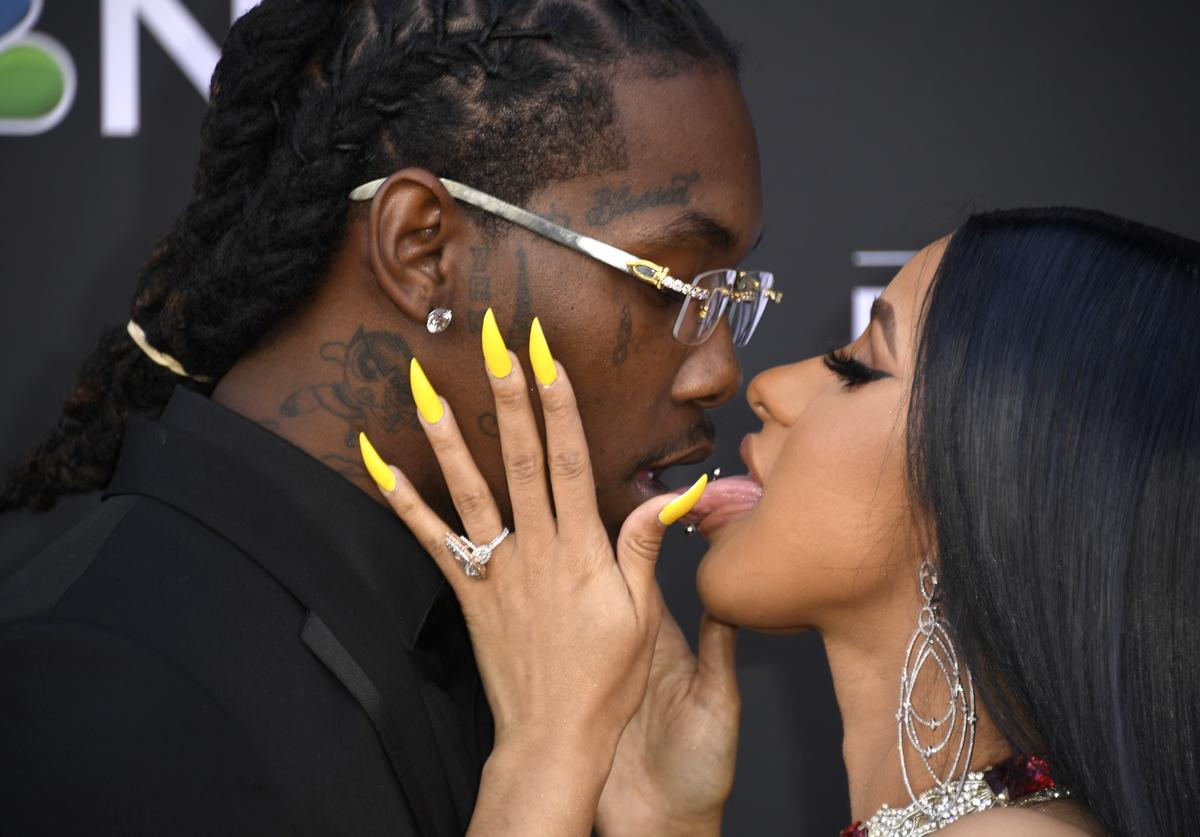 Offset of Migos and Cardi B attend the 2019 Billboard Music Awards at MGM Grand Garden Arena on May 01, 2019 in Las Vegas, Nevada