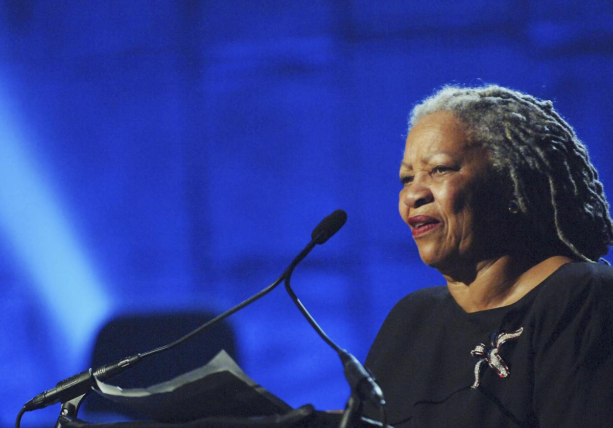Toni Morrison performs at the Jazz At Lincoln Centers Concert For Hurricane Relief at the Rose Theater at Jazz at Lincoln Center on September 17, 2005 in New York City